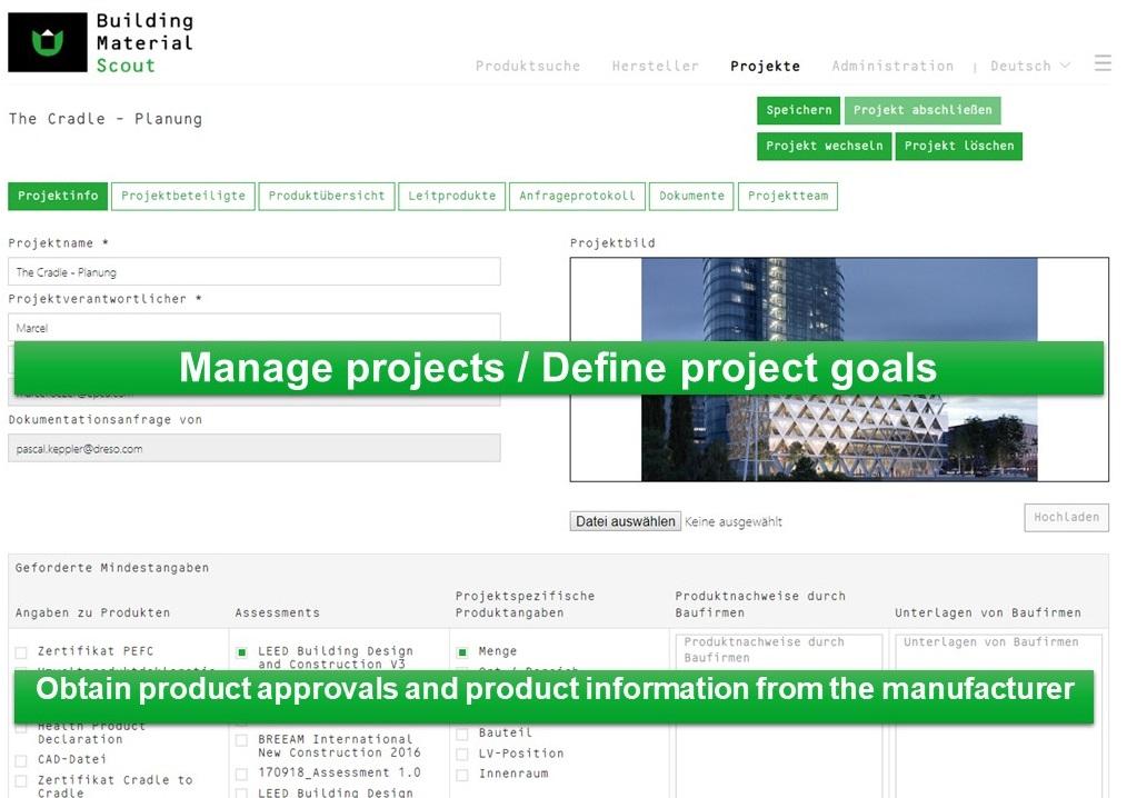 LEED DGNB BREEAM WELL Projects documentation
